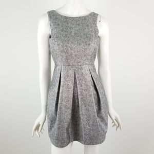WHBM Silver Shimmer Fit & Flare Dress 0P